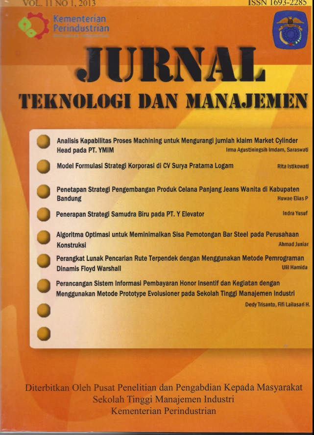 Jurnal Teknologi dan Manajemen Volume 11 No 1 Februari 2013