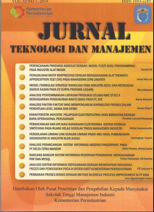 Jurnal Teknologi dan Manajemen Volume 12 No 1 Februari 2014
